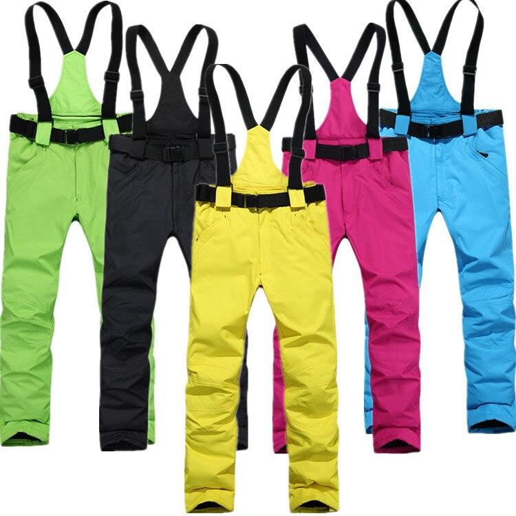 Sports de plein air camping sangles pantalons de ski garçons hiver femme-30 degrés vent chaud respirant pantalon livraison gratuite