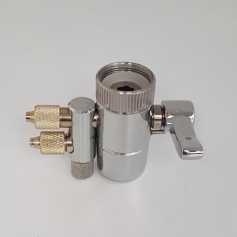 Verchromt Metall Wasserhahn Belüfter Dual Umsteller Adapter für Wasserfilter Munddusche zubehör ventil schalter
