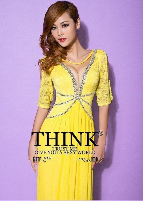 Распродажа, кружевное Длинное нарядное платье трапециевидной формы с v-образным вырезом Вечерние платья vestido de festa rendo robe de soiree Abiti da sera H0649