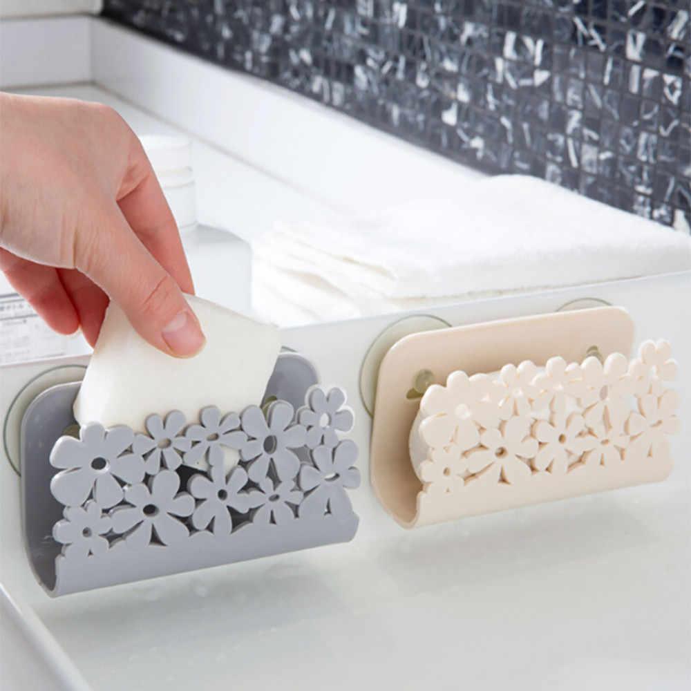 11*3.7*6.5 cm naczynia gąbki uchwyt Rack ssania uchwyt klip wytycznych w sprawie pomocy regionalnej stojak do przechowywania kuchnia łazienka mydło wiszące półki organizator
