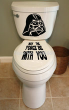 May The Force Be With Yo Toilet Decal Bathroom Toilet Removable waterproof closestool&Glass Stickers for home&Tolite decoration