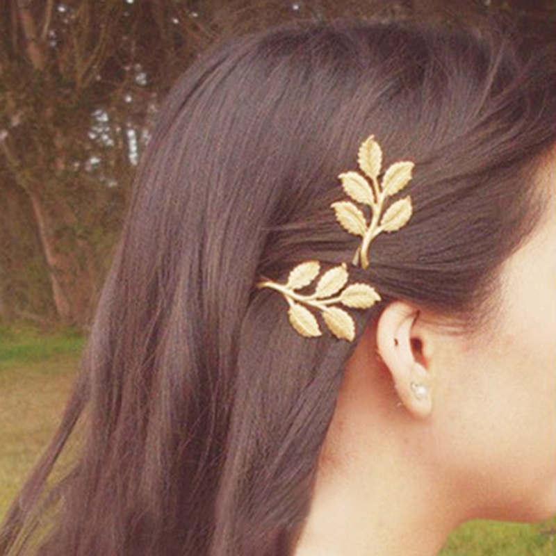 2019 Woman Bride Metal Leaf Hair Clips Hairpin Beautiful And Elegant Girls Barrettes Hair Accessories Fashion 1 Pcs