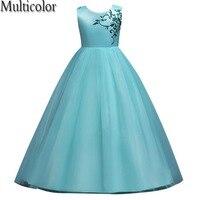 Multicolor New Summer Style Baby Girl Print Flower Girl Dress For Wedding Girls Party Dress For