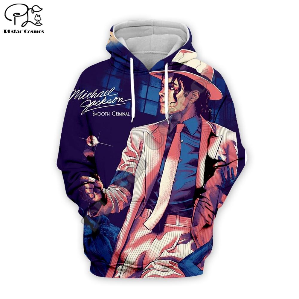 PLstar Cosmos New 3D Hoodies/Sweatshirt/Jacket/Men Women 2019 Michael Jackson Printing Sweatshirt Hooded Streetwear Tops