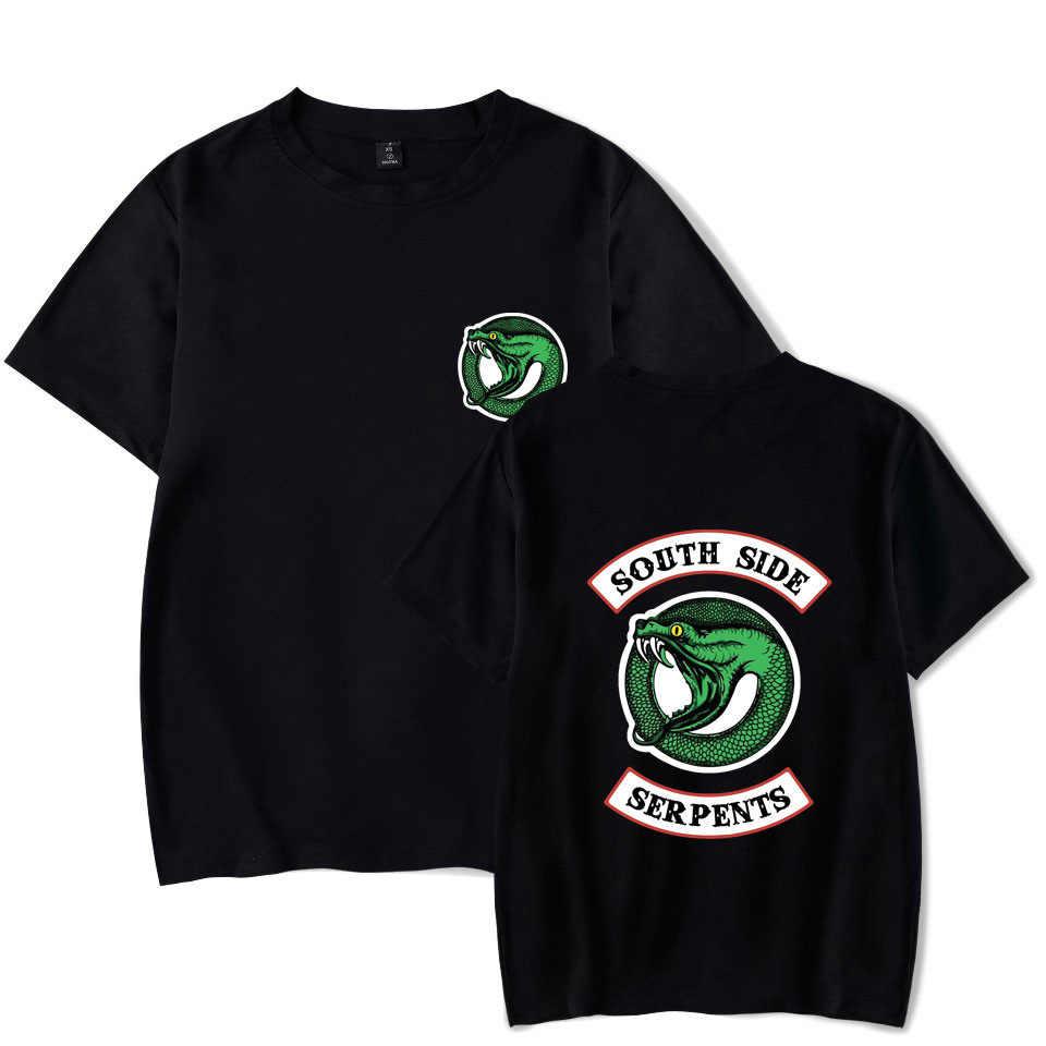 Riverdale T shirt Streetwear Summer Tops Riverdale South Side Serpents T-Shirts For Man/Women Jughead Jones Archie Andrews Tees
