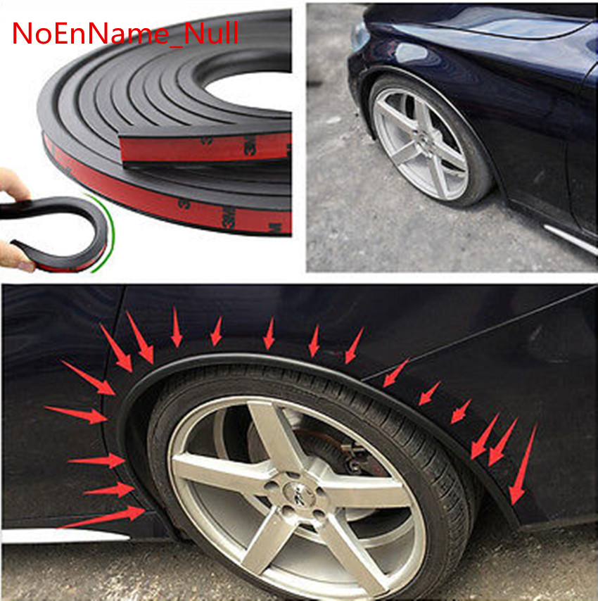 Soft Car Fender Flare Extension Wheel Eyebrow Protector Lip Wheel-arch Trim Wheel Eyebrow Arch Decorative Strip Car Tires