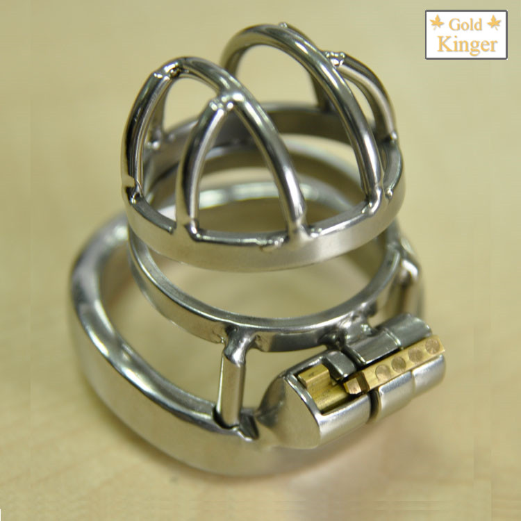 super small cock cages 30*33mm stainless steel chastity device male cage with arc cock ring male bondage bdsm man