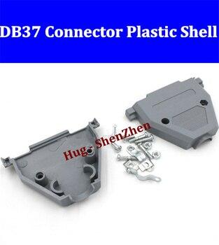 Duas linhas db37 macho ou fêmea soquete plástico houseing/caso/escudo/capa e parafuso livre shipping-20pcs