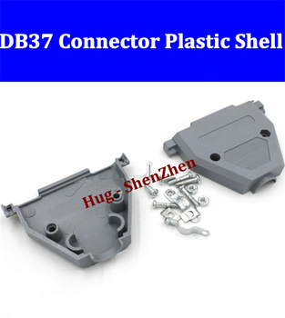 Two rows DB37 male or female Socket plastic houseing/case/shell/cover and screw Free shipping-20pcs