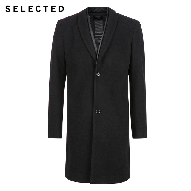 SELECTED contains long wool woollen coat and coat in wool.S|417427521