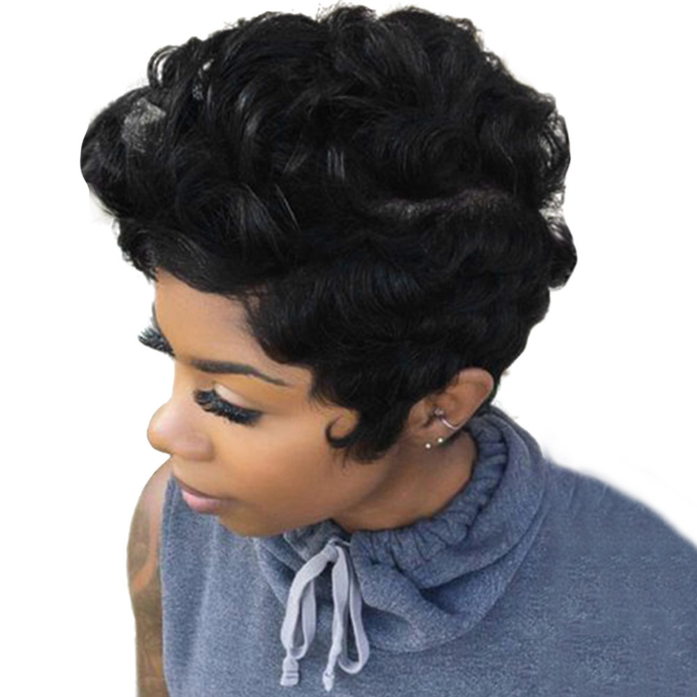 brazilian wigs front lace Hairstyle Synthetic wigs for black women short body wave wigs front lace 6623A