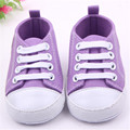 Nuevo Infantil Lindo Cómodo Niño Bebé Niña Sneaker Frenillo zapatos de Lona Antideslizantes Inferiores Suaves Zapatos de Bebé de 14 Colores