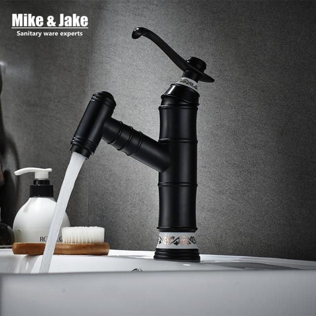 Aliexpress.com : Buy Bathroom faucet Pull out black basin faucet ...