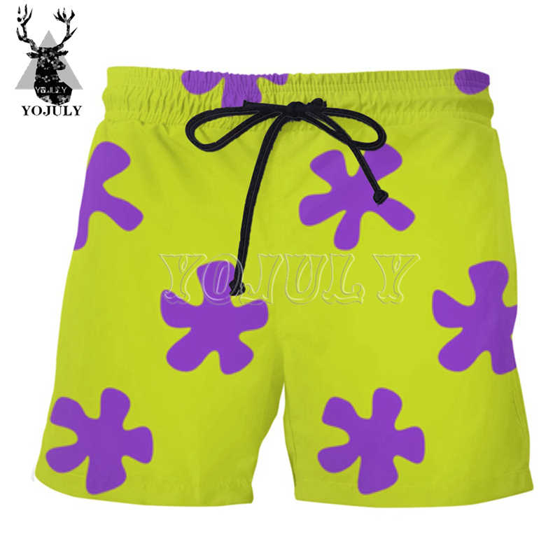 YOJULY Summer New Men 3D Anime Cartoon Print Swimwear Shorts Unisex Casual Beach Pants Board Shorts Women Funny Short Pants DK02