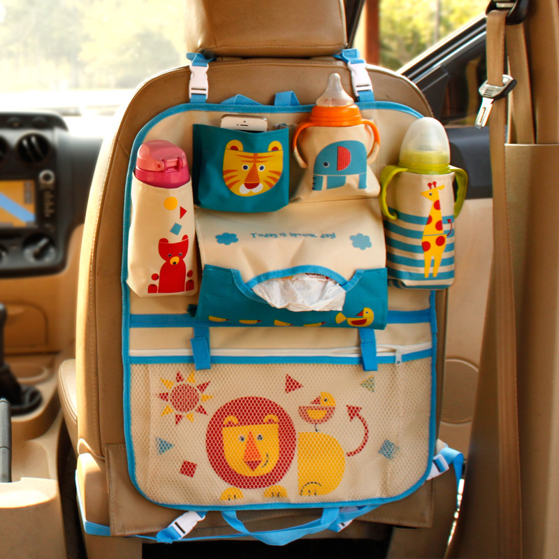 Car organizers for children kids high-quality cartoon Oxford the backseat organizers Organizador auto parts storage bags