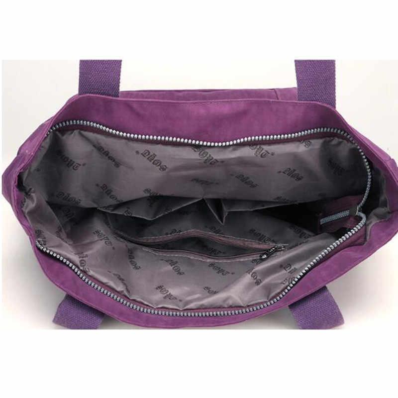 Frauen High-grade Nylon Handtasche Lässig Große Umhängetasche Mode Hohe Kapazität Tote Marke Design Wasserdichte Große Tasche