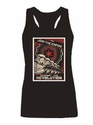 Звездные войны присоединяйтесь империя графический женщин топы девушки мода жилет без рукавов индивидуальный танки