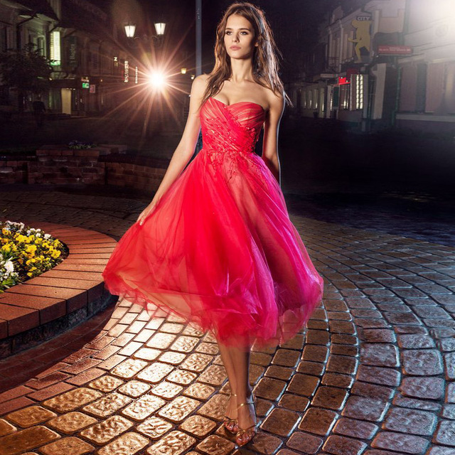 Tea Length Evening Dresses Sale