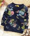 (1 шт./лот) 100% хлопок 2015 Симпатичные сладкий цветок ребенка верхняя одежда