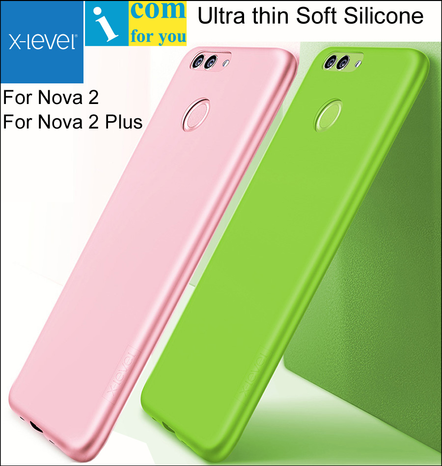 X-Level Ultra thin Soft Silicone Cover Case For Huawei Nova 2 Plus X Level Guardian Matte frosted TPU Protective Nova2