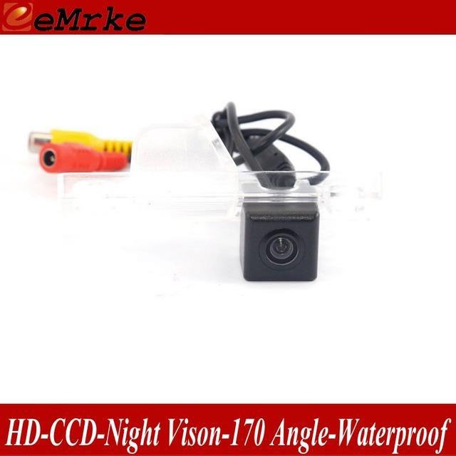 EeMrke Para Daewoo Kalos 2002-2007 Retrovisor Câmera Back Up Estacionamento Câmera de Visão HD Noite À Prova D' Água Luz Da Placa de Licença