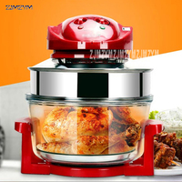 Kitchen electric fryers 220V/1200W household oil free air fryer 10L large capacity multi function fryer bake fries machine