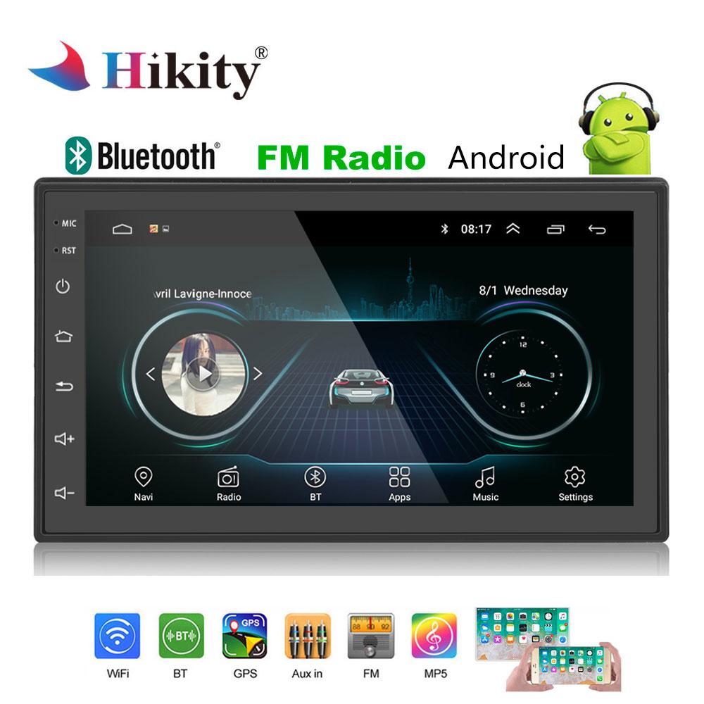 Hikity Android 2 Din GPS Car Stereo Radio 7''Autoradio 2din MP5 Player Bluetooth WIFI GPS FM AM Audio Radio multimedia player