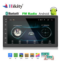 Hikity Android 2 Din GPS Car Stereo Radio 7''Autoradio 2din MP5 Player Bluetooth WIFI GPS FM AM Audio Radio multimedia player