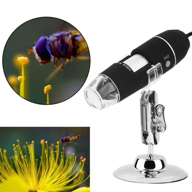 1000X 8 LED Electronic Microscope Digital Microscope Usb Professional Mount+ tweezers Magnification Measure
