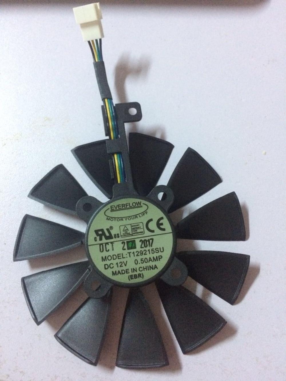 Original for Raptor GTX980Ti graphics card cooler fan T129215SU 12V 0.50A