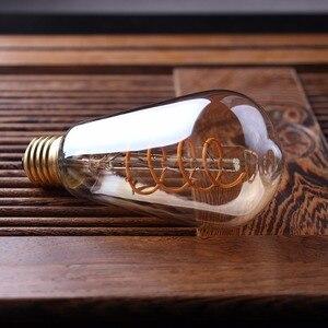 Image 4 - LED Dimmable רטרו אדיסון הנורה E27 220V 3W זהב ספירלת נימה ST64 A19 LED מנורת בציר ליבון דקורטיבי LED תאורה