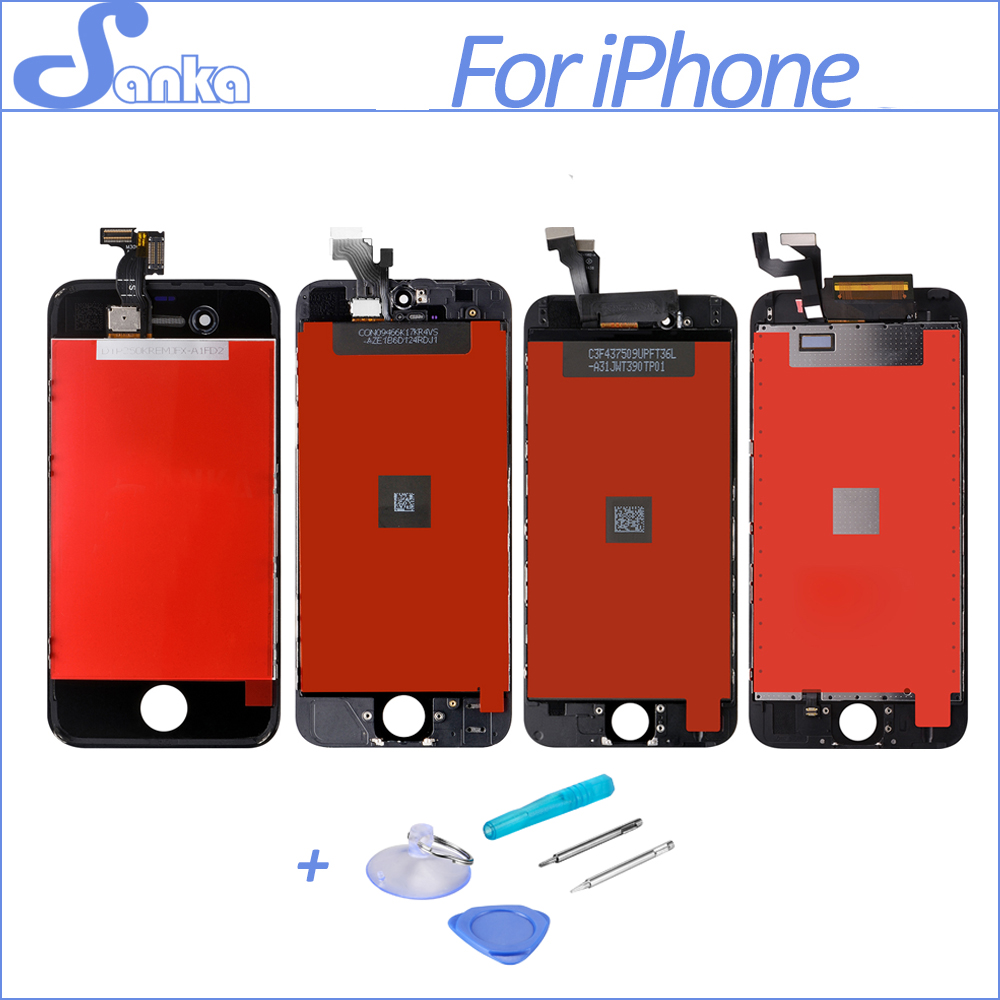 SANKA For iPhone 4 4S 5 5S 6 6S A1332 LCD Screen Display Touchscreen Digitizer Assembly Screen Replacement Mobile Phone Parts