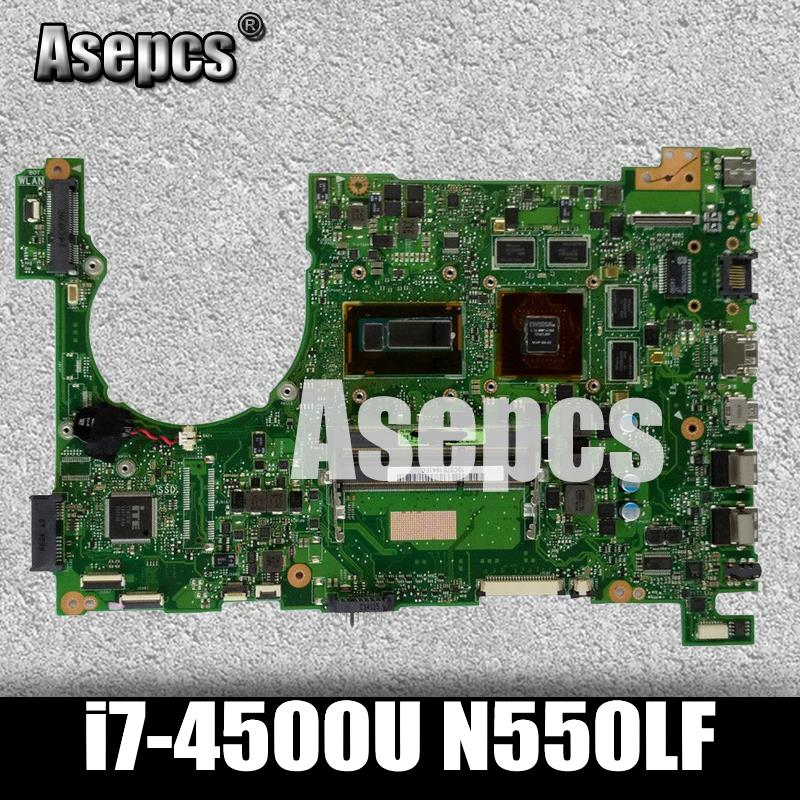 Asepcs Laptop Motherboard For ASUS Q550LF N550LF PC PN 60NB0230-MBB000 N550LF MAIN BOARD CPU i7-4500U CPU DDR3 100% Fully TestedAsepcs Laptop Motherboard For ASUS Q550LF N550LF PC PN 60NB0230-MBB000 N550LF MAIN BOARD CPU i7-4500U CPU DDR3 100% Fully Tested