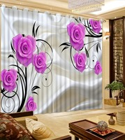 Custom any size flower curtain window curtains model home curtains Curtains for living room High Quality