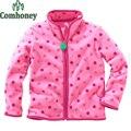 Spring Autumn Jackets for Girls Polar Fleece Striped Sport Hoodies Baby Boys Coat Outwear Children Sweatshirt Brand Kids Clothes