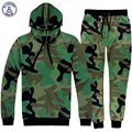 Mr.1991INC Army style Men/women hoodies camouflage print fashion lovely tracksuits hooded hoody 3d sweatshirt long pant