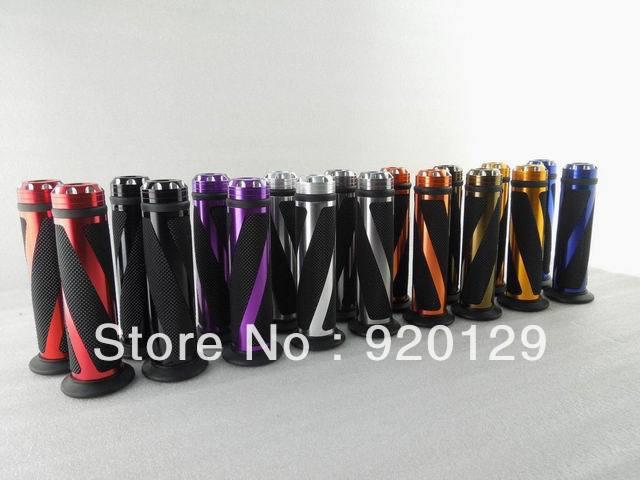 7/8  22mm Motorcycle Dirt Bike Rubber Handle Bar Gel Rubber Hand Grips for Honda Yamaha Kawasaki Suzuki