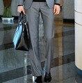 Hombres de negocios de los pantalones de traje de primavera y el verano del ajustado traje de pantalones de alta calidad de la cremallera diseño de marca traje de pantalones 9 colores Y1275