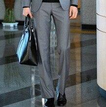 Мужские деловые брюки весна и лето slim-подходят костюм брюки высокое качество молния марка дизайн костюма брюки 9 цветов Y1275