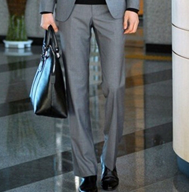 Men's Business Suit Pants Spring And Summer Slim Fit Suit Trousers High Quality Zipper Brand Design Suit Pants 9 Colors Y1275