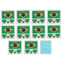 a172579c6 Rocooart 10PCS Russia World Cup 2018 Tattoo Stickers Football Stickers  Waterproof Flag Tattoo Stickers Heart-shaped on Face Ar