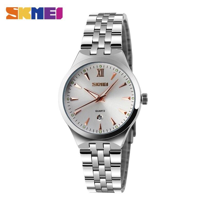 SKMEI Quartz Ladies Watch Classic Dress Women Watches Stainless Steel Strap Top Luxury Clock Female Wrist Watch Reloj Mujer 9071