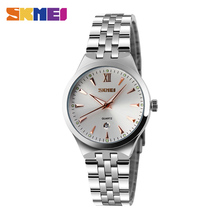 SKMEI Quartz Ladies Watch Classic Dress Women Watches Stainless Steel Strap Top Luxury Clock Female Wrist Watch reloj mujer 9071 classic luxury women single calendar quartz stainless steel date wrist watches ladies watch clock xfcs saat reloj mujer horloges