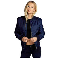SIF 2016 Autumn Winter Women Warm Basic Coats Bomber Jackets Cool Quilted Long Sleeve Slim Jacket Casual Padded Short Outwear