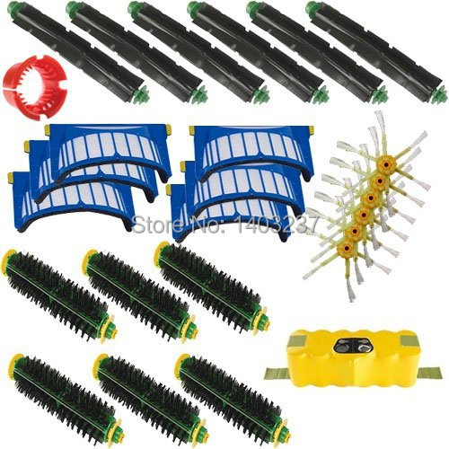 For iRobot Roomba 510 - AeroVac Vacuum Cleaner Accessory Kit Roomba 500 600 Series Accessory Kit  Battery Bristle Brushes Tool for irobot roomba 500 600 700 aerovac vacuum cleaner accessory kit includes 1 battery 10 6 armed side brush