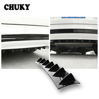CHUKY Car Rear Bumper Chassis Shark Fin 7 Wings Deflector Modified Spoiler For BMW E46 E39 E90 E60 Toyota Corolla Nissan Qashqai