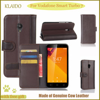 KLAIDO Genuine Leather Mobile Phone Case For Vodafone Smart Turbo 7 Flip Case For Vodafone Smart