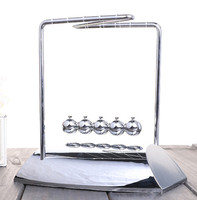 Newton Cradle Steel Balance Ball Physic School Educational Supplies Teaching Science Desk Toys Gift for children Glass thickenin