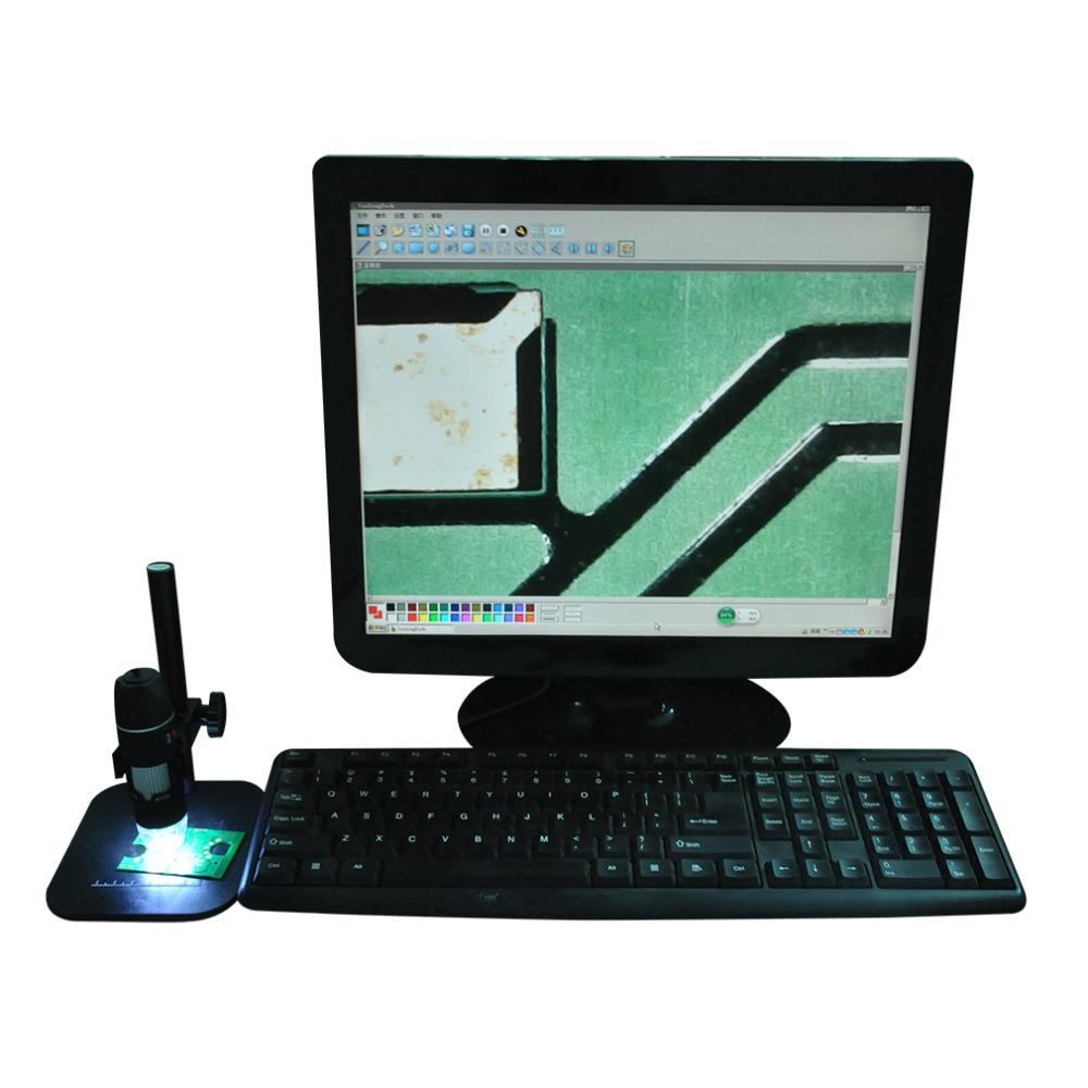 Usb Microscope Practical Electronics USB 8 LED Digital Camera Microscope Endoscope Magnifier 50X~500X Magnification Measure