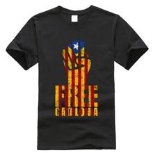 ec7fe0f0de Cataluña libre puño camiseta libertad para libre Viva la revolución Banner  Fausto camiseta nuevo moda envío gratis 2019 camisas